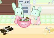 Bunnies Cooking Cake