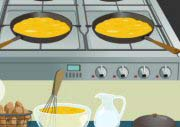 Egg Cooks At Frypan