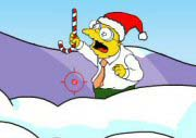 Simpsons Snowball Fight